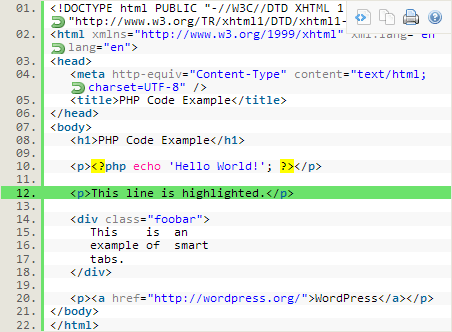 Plugin Syntax Highlighter