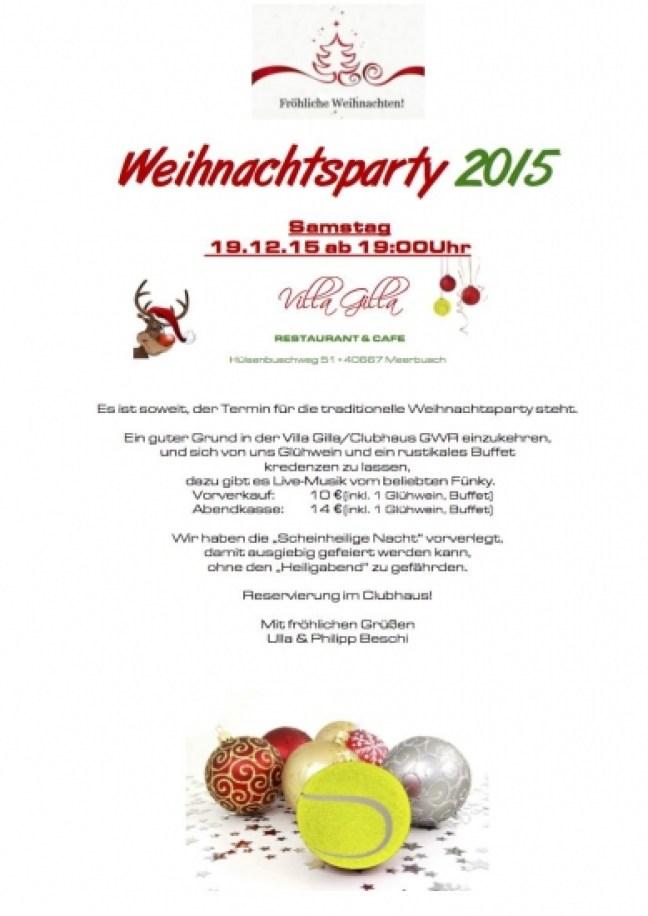 Flyer (Weihnachtsparty) 2015