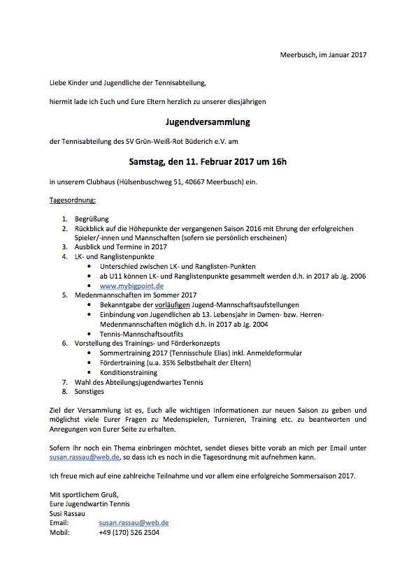Jugendversammlung 2017-02-11 Tagesordnung