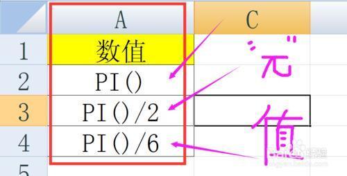 EXCEL中COS余弦函數計算余弦值