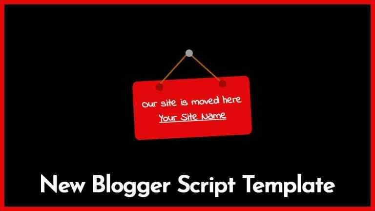 Blogger Script