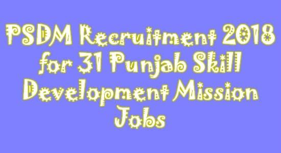 PSDM Recruitment 2018