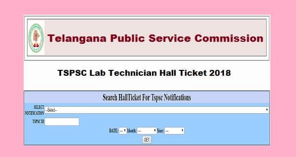 TSPSC Lab Technician Hall Ticket
