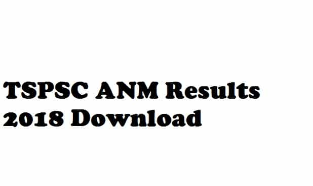 TSPSC ANM Results 2018