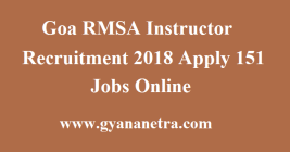 Goa RMSA Instructor Recruitment