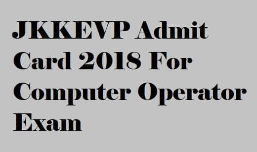 JKKEVP Admit Card