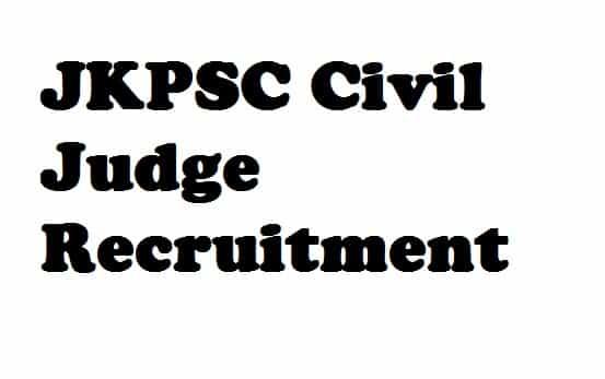 JKPSC Civil Judge Recruitment