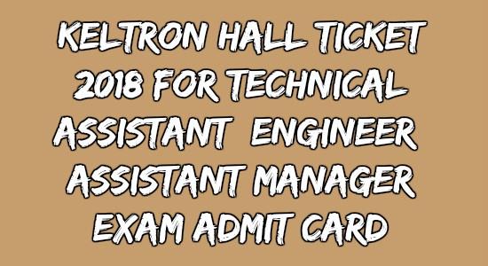 KELTRON Hall Ticket