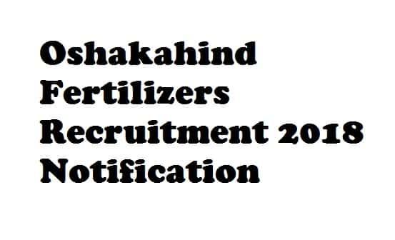 Oshakahind Fertilizers Recruitment
