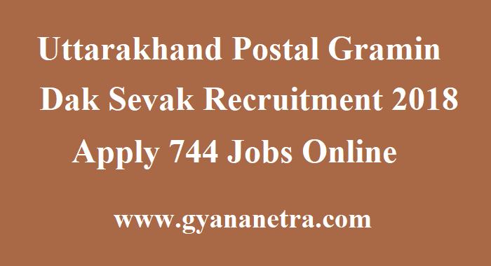 Uttarakhand Postal Gramin Dak Sevak Recruitment