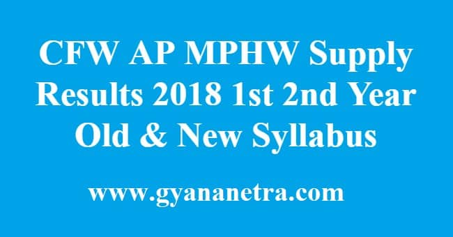 CFW AP MPHW Supply Results 2018