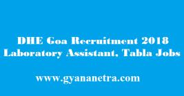 DHE Goa Recruitment 2018