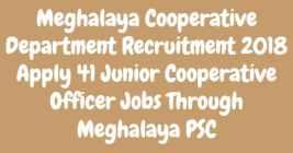 Meghalaya Cooperative Department Recruitment