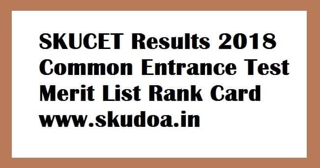 SKUCET Results