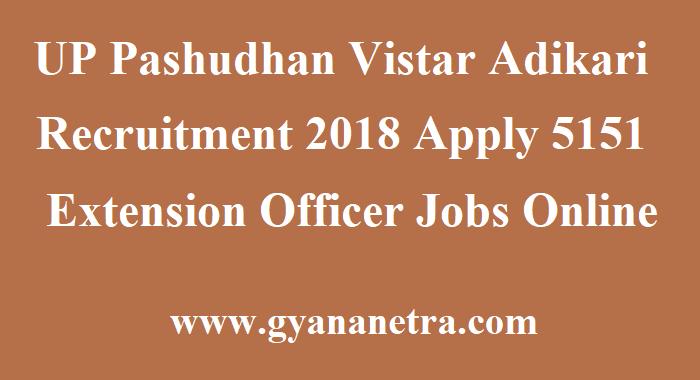 UP Pashudhan Vistar Adikari Recruitment