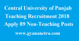 Central University of Punjab Teaching Recruitment