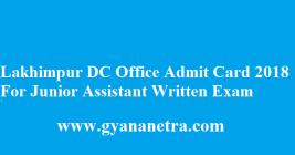 Lakhimpur DC Office Admit Card 2018