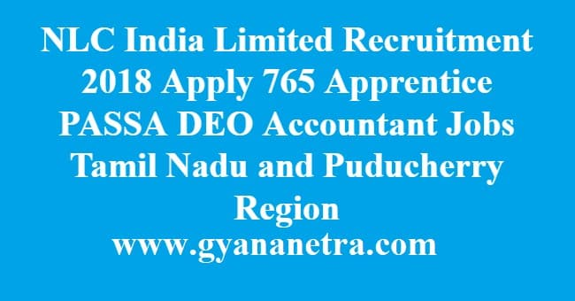 NLC India Limited Recruitment