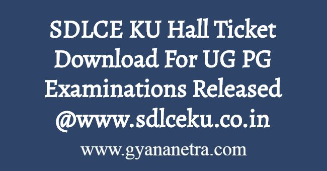 SDLCE KU Hall Ticket Download