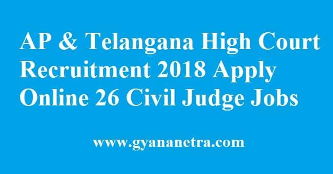 AP & Telangana High Court Recruitment