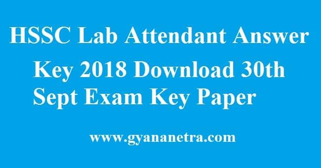 HSSC Lab Attendant Answer Key