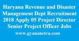 Haryana Revenue and Disaster Management Dept Recruitment