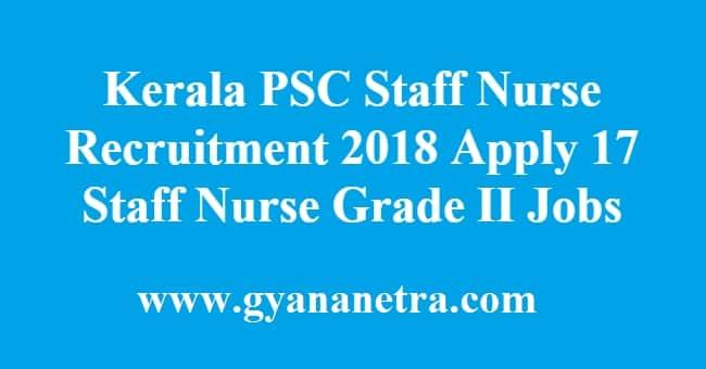 Kerala PSC Staff Nurse Recruitment