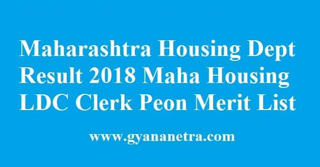 Maharashtra Housing Department Result