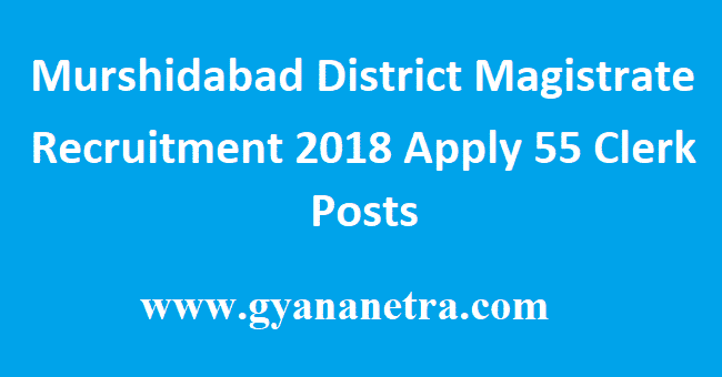 Murshidabad District Magistrate Recruitment