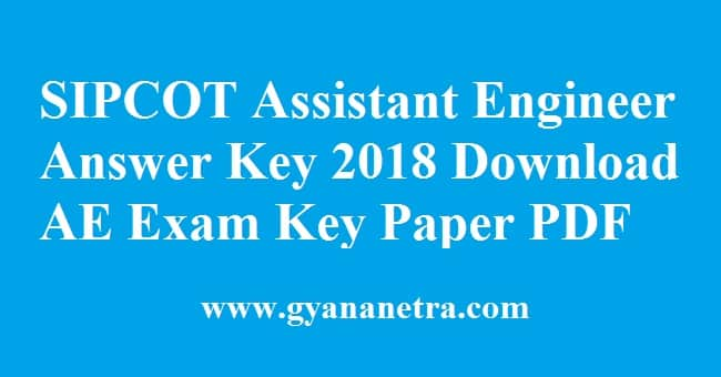 SIPCOT Assistant Engineer Answer Key