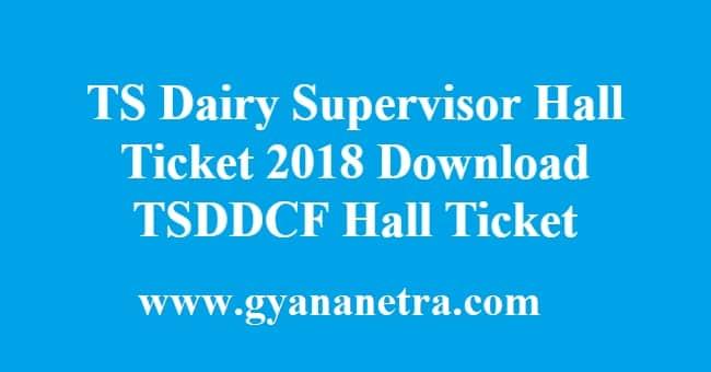 TS Dairy Supervisor Hall Ticket