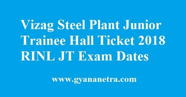 Vizag Steel Plant Junior Trainee Hall Ticket