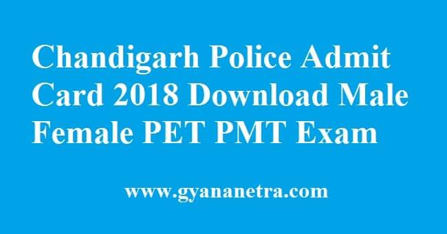 Chandigarh Police Admit Card