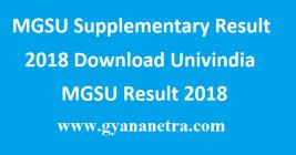 MGSU Supplementary Result