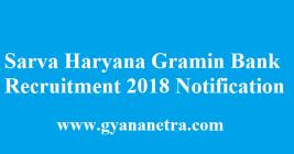 Sarva Haryana Gramin Bank Recruitment 2018