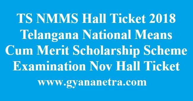 TS NMMS Hall Ticket