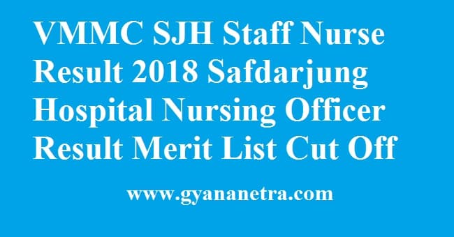 VMMC SJH Staff Nurse Result