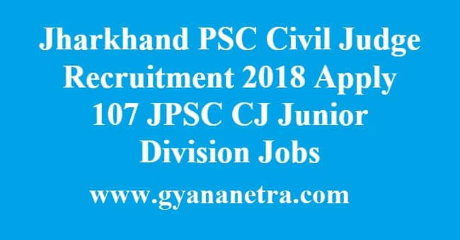 Jharkhand PSC Civil Judge Recruitment