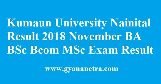 Kumaun University Nainital Result
