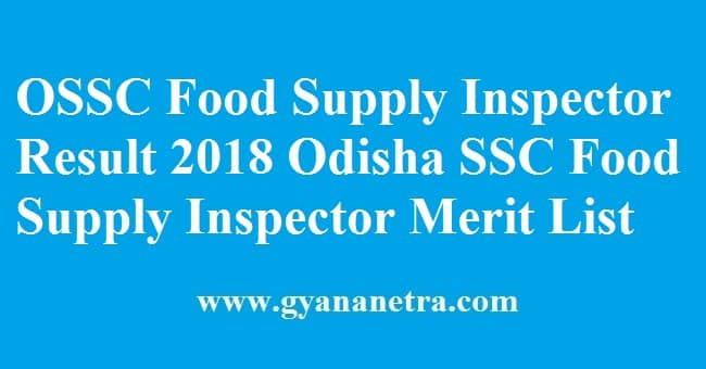 OSSC Food Supply Inspector Result