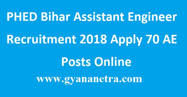 PHED Bihar Assistant Engineer Recruitment