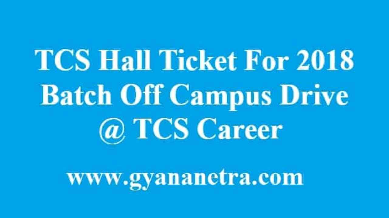 tcs careers hall ticket download
