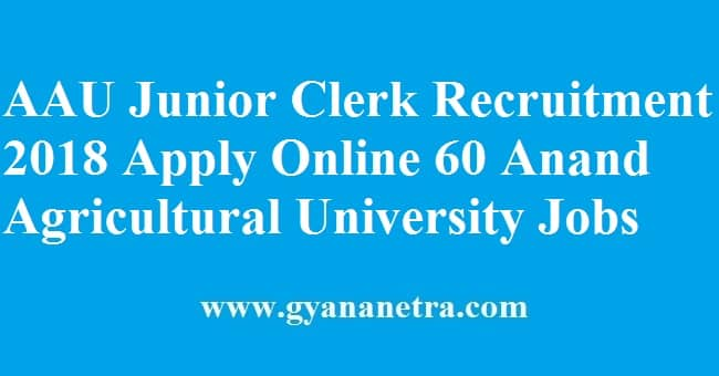 AAU Junior Clerk Recruitment