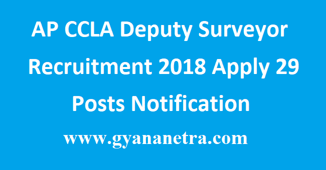 AP CCLA Deputy Surveyor Recruitment
