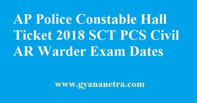 AP Police Constable Hall Ticket