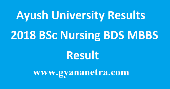 Ayush University Results