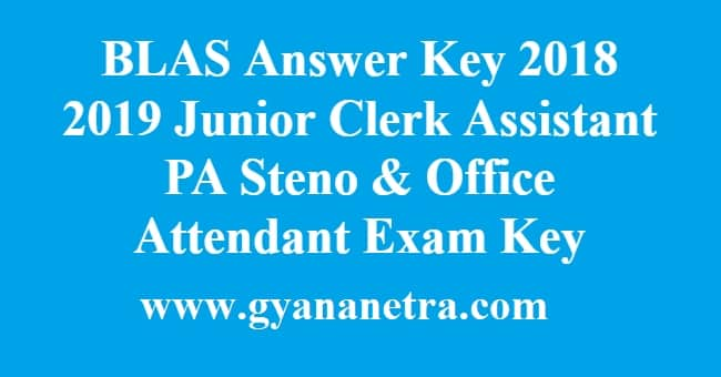 BLAS Answer Key