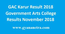 GAC Karur Result 2018
