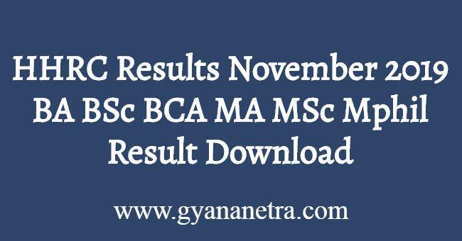 HHRC Results November