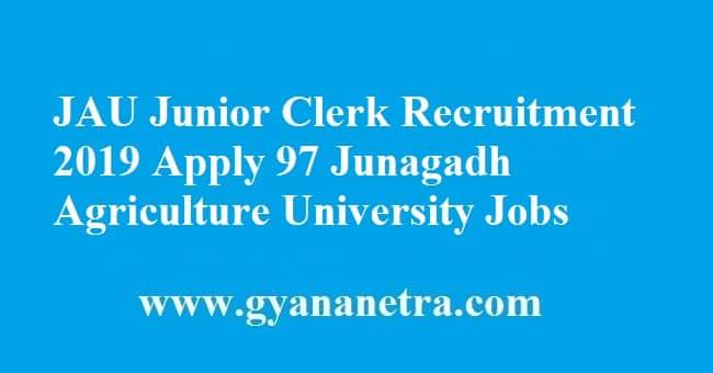 JAU Junior Clerk Recruitment